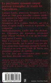 La Vie Secrete De Laszlo Comte Dracula - 4ème de couverture - Format classique