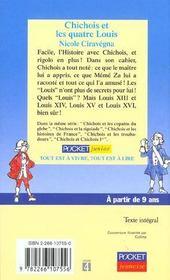 Chichois et les quatre louis - 4ème de couverture - Format classique