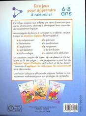 Des Jeux Pour Apprendre A Raisonner - 4ème de couverture - Format classique