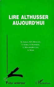 Lire Althusser Aujourd'Hui - Intérieur - Format classique