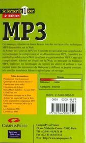 Se Former En Un Jour Mp3 Sdeedition - 4ème de couverture - Format classique