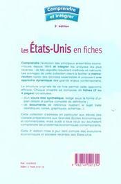 Les Etats-Unis en fiches ; concours commerciaux (3e édition) - 4ème de couverture - Format classique