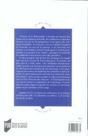 Les regles de l'entraide sociologie d'une pratique sociale - 4ème de couverture - Format classique