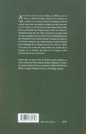 Rome Et L'Architecte : Conception Et Esthetique Du Plan-Relief De Pau L Bigot - 4ème de couverture - Format classique