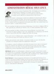 Administration Reseau Sous Linux ; 2e Edition - 4ème de couverture - Format classique