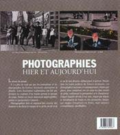 Photographies hier et aujourd hui - 4ème de couverture - Format classique