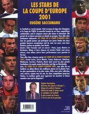 Les stars de la coupe d'Europe 2001. Albertini, Anderson, Angloma... - 4ème de couverture - Format classique