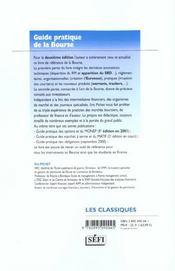 Guide pratique de la bourse ; 2e edition - 4ème de couverture - Format classique