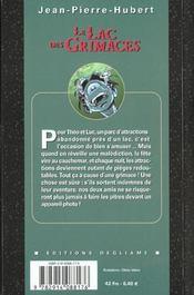 Lac des grimaces - 4ème de couverture - Format classique