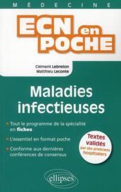 Maladies Infectieuses Tout Le Programme En Fiches L'Essentiel En Format Poche - Couverture - Format classique