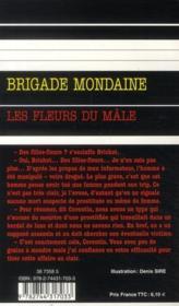 Brigade mondaine t.321 ; les fleurs du mâle - 4ème de couverture - Format classique