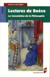 Lectures de Boèce ; la consolation de la philosophie - Couverture - Format classique