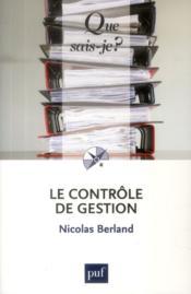 Le contrôle de gestion - Couverture - Format classique