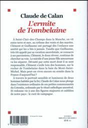 L'ermite de Tombelaine - 4ème de couverture - Format classique