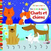 AVEC MON DOIGT ; chats et chiens - Couverture - Format classique