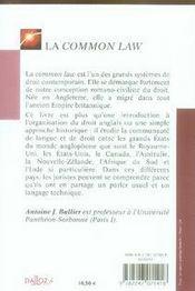 La common law (2e édition) - 4ème de couverture - Format classique