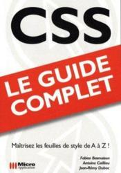 CSS ; (guide complet) - Couverture - Format classique