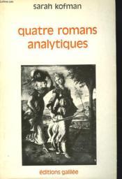 Quatre romans analytiques - Couverture - Format classique