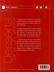 Desserts dans un verre - 4ème de couverture - Format classique