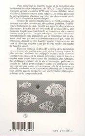 Tchad 1998 - 4ème de couverture - Format classique