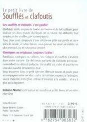 Soufflés et clafoutis - 4ème de couverture - Format classique