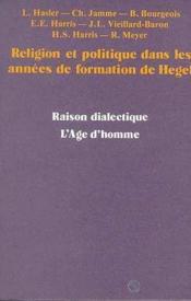 Religion Politique Formation Hegel - Couverture - Format classique