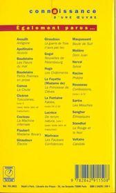 Antigone, de Jean Anouilh - 4ème de couverture - Format classique