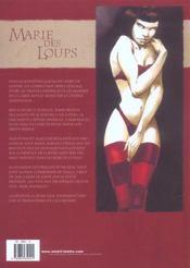 Marie des loups t.2 ; le cirque de Petra - 4ème de couverture - Format classique