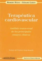 Terapeutica Cardiovascular ; Analisis Transversal De Los Principales Ensayos Clinicos - Couverture - Format classique