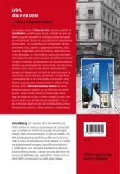 Lyon, place du pont ; la place des hommes debout - 4ème de couverture - Format classique