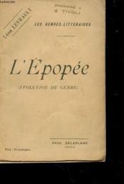L'Epopee - Evolution Du Genre - Couverture - Format classique