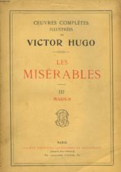 Les Miserables - Iii - Marius - Couverture - Format classique