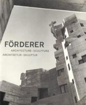 Architecture ; sculpture - Couverture - Format classique