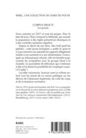 Corpus delicti - 4ème de couverture - Format classique
