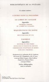 Oeuvres romanesques t.4 - 4ème de couverture - Format classique