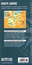 Haute-Savoie ; Annecy, Genevois, lac Léman, pays du Mont-Blanc, Aravis - 4ème de couverture - Format classique