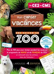 Mon cahier de vacances : une saison au zoo, CE2-CM1 - Couverture - Format classique