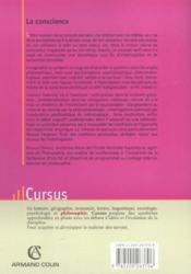 La conscience ; approches croiséees ; des classiques aux sciences cognitives - Couverture - Format classique