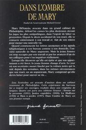 Dans L'Ombre De Mary - 4ème de couverture - Format classique
