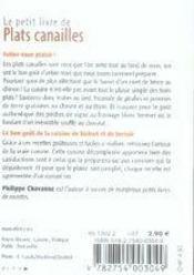 Plats canailles - 4ème de couverture - Format classique