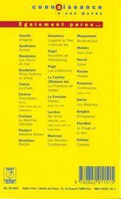 Petits poèmes en prose, de Charles Baudelaire - 4ème de couverture - Format classique