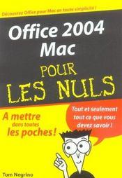 Office 2004 Mac - Intérieur - Format classique