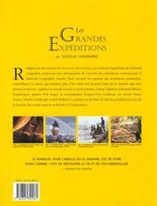 Les grandes expeditions du national geographic - 4ème de couverture - Format classique