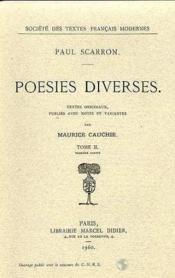 Poesies diverses - tome ii - Couverture - Format classique