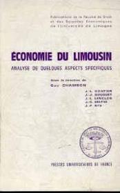 Economie Du Limousin. Analyse De Quelques Aspects Specifiques - Couverture - Format classique
