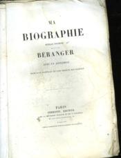 Ma Biographie - Ouvrage Posthume - Couverture - Format classique
