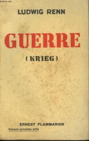 Guerre. ( Krieg ) . - Couverture - Format classique