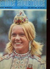 Revue Mensuelle - Etudes Sovietiques - Juillet/aout 1975 - N° 328-329 - Couverture - Format classique