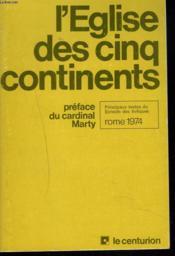 L'Eglise Des Cinq Contienents. - Couverture - Format classique