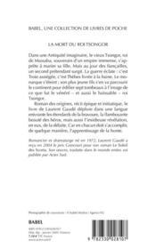 La mort du roi Tsongor - 4ème de couverture - Format classique